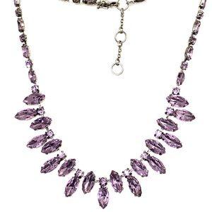BANANA REPUBLIC purple glass stone necklace NEW